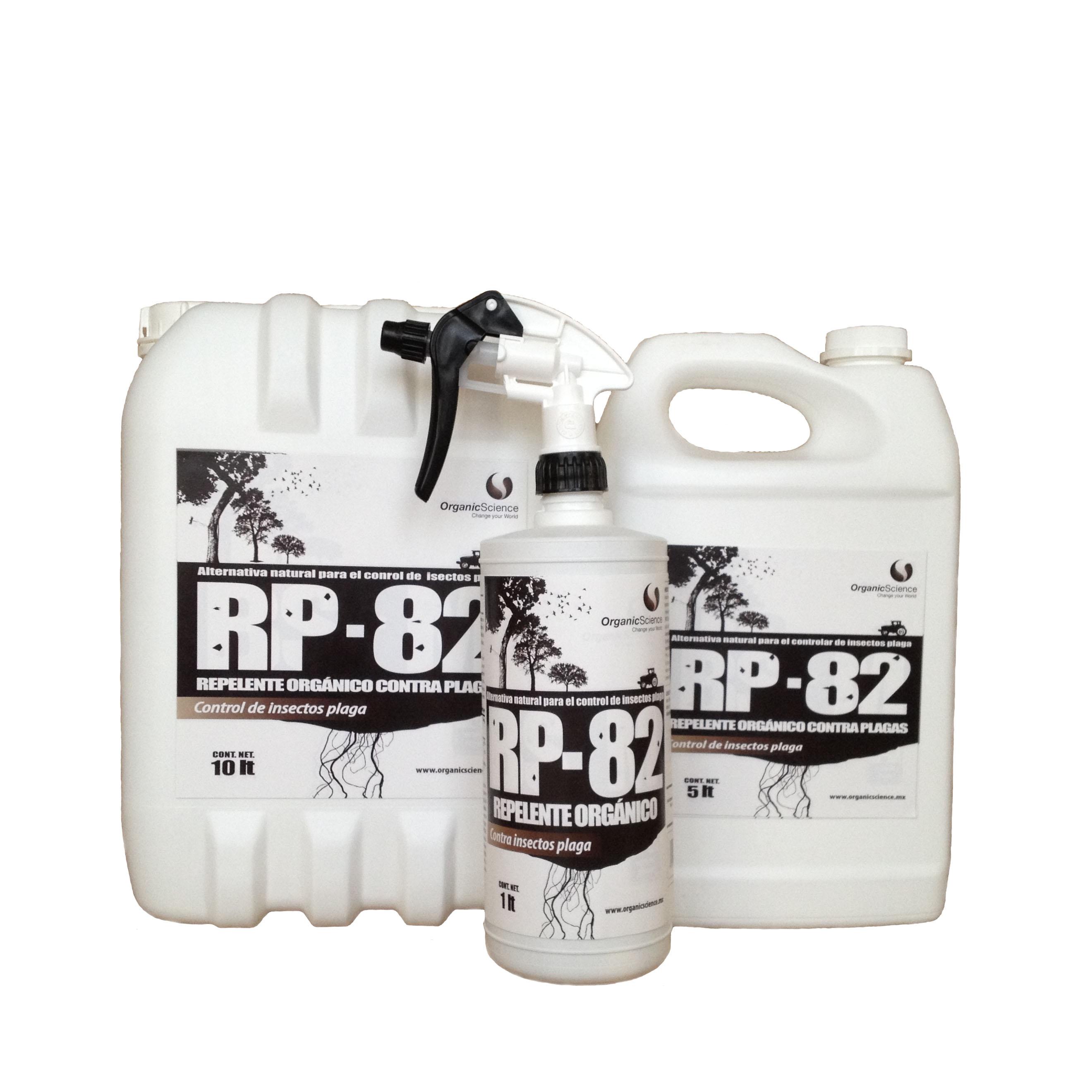 Repelente natural de insectos plaga RP-82 en sus 3 presentaciones